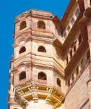 Mehrangarh fort i Jodhpur, Indien Arkivfoton
