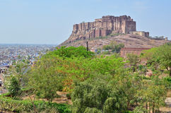 Mehrangarh Fort from Jaswant Thanda Memorial, Jodhpur, India Royalty Free Stock Photos
