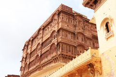 Mehrangarh fort jodhpur india. Huge fort and palace complex containing numerous monuments Royalty Free Stock Photo