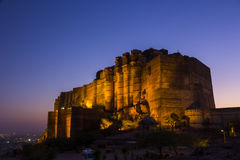 Mehrangarh Fort, Jodhpur, Rajasthan, INDIA. Mehrangarh Fort, in Jodhpur, Rajasthan, INDIA Royalty Free Stock Photography