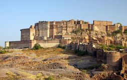 Mehrangarh Fort in Jodhpur, Rajasthan, India. Mehrangarh Fort, located in Jodhpur, Rajasthan state is one of the largest forts in India Stock Photography