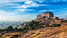 Mehrangarh Fort, Jodhpur, Rajasthan, India. Panorama of Mehrangarh Fort in Jodhpur, Rajasthan, India Royalty Free Stock Photo