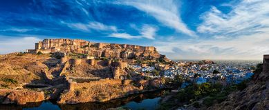 Mehrangarh Fort, Jodhpur, Rajasthan, India Stock Images