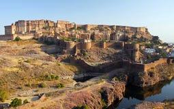 Mehrangarh Fort in Jodhpur, Rajasthan, Indien Lizenzfreie Stockfotos