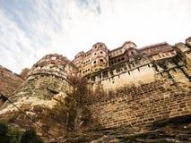 Mehrangarh fort, Jodhpur, Rajasthan, Indien Arkivfoton
