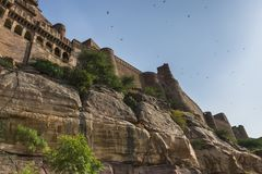 Mehrangarh Fort in Jodhpur, Rjasthan, India Stock Image