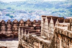 Mehrangarh Fort in Jodhpur, Rjasthan, India Stock Photo