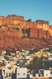 Mehrangarh Fort Jodphur India Cityscape Tranquil Concept Stock Photography