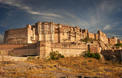 Mehrangarh Fort located in Jodhpur, India. Mehrangarh Fort located in Jodhpur, Rajasthan, is one of the largest forts in India stock images