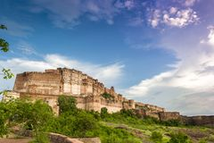 Mehrangarh Fort located in Jodhpur, India. - Stock image Royalty Free Stock Photos