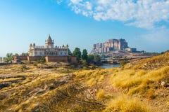 Mehrangarh-Fort mit Jaswant Thada Lizenzfreie Stockbilder