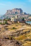 Mehrangarh-Fort mit Jaswant Thada Stockbild