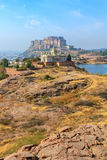Mehrangarh-Fort mit Jaswant Thada Stockfoto