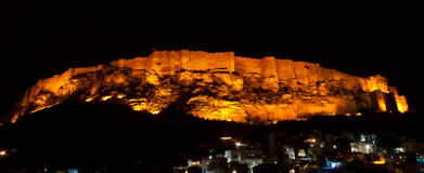 Mehrangarh fort at night Stock Photos