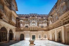 Mehrangarh fort på Jodhpur, Rajasthan, Indien Arkivbild