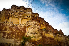 Mehrangarh Fort ramparts horizontal Royalty Free Stock Photography