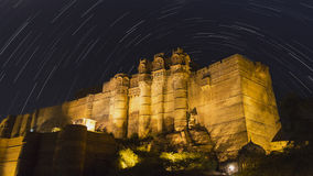 Mehrangarh Fort Star Trails Stock Photos