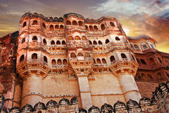 Mehrangarh Fort on sunset Royalty Free Stock Images