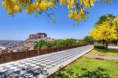 Mehrangarh Fort view from Jaswant Thada Jodhpur Rajasthan Royalty Free Stock Photo