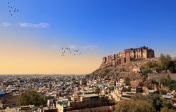Mehrangarh fort w Jodhpur, Rajasthan, India obrazy stock