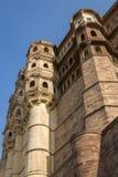Mehrangarh Fort walls in Jodhpur, Rjasthan, India Royalty Free Stock Images
