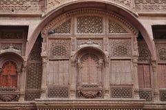 Mehrangarh fortu okno Obrazy Royalty Free