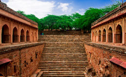 Mehrauli Archeologisch Park, New Delhi Stock Afbeelding