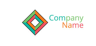 Mehrdimensionales geometrisches Logo Lizenzfreies Stockbild