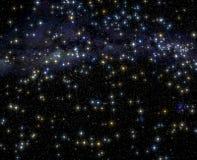 Mehrfache blaue Sterne Lizenzfreie Stockfotos