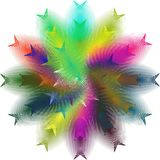 Mehrfache Farbmoderner abstrakter Hintergrund Stockbild