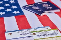 Mehrfache Immigrationsform stockbilder