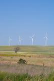Mehrfache Leistung, die Windmühlen festlegt Stockbilder