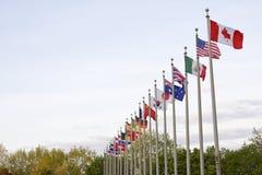 Mehrfache nationale Land-Markierungsfahnen Lizenzfreies Stockbild