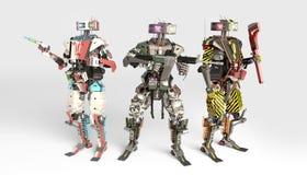 Mehrfache Roboteranwendung lizenzfreies stockbild