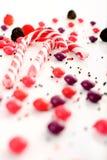 Mehrfache Süßigkeitansammlung auf Weiß Lizenzfreie Stockbilder