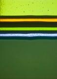 Mehrfache Schichten handgemachtes Glas in den verschiedenen Farben Stockbilder
