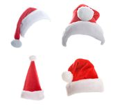 Mehrfache Weihnachtshüte Lizenzfreies Stockfoto