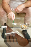Mehrfacher Drogenmissbrauch Stockfotografie