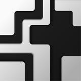 Mehrfacher Hintergrund von verschiedenen Streifen von Schwarzweiss--pape Stockbild