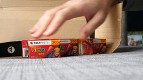 Mehrfaches AGFA-Foto Vista plus 200 unboxing Lizenzfreies Stockbild