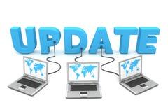 Mehrfachverbindungsstelle verdrahtet zum Aktualisierungsvorgang Stockfotografie