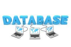 Mehrfachverbindungsstelle verdrahtet zur Datenbank Stockfotografie