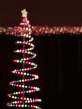 Mehrfarben-bokeh Weihnachtslichter Lizenzfreies Stockbild