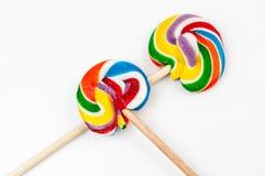 Mehrfarben-lollypop stockfotografie