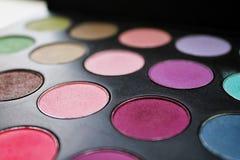 Mehrfarben- und bequeme Palette des Lidschattens Lizenzfreies Stockbild