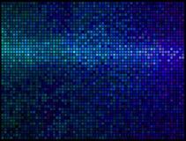 Mehrfarbenauszug beleuchtet blauen Discohintergrund Stockbild