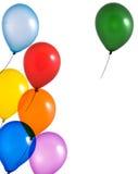 Mehrfarbenballone auf weißem Hintergrund Lizenzfreie Stockbilder