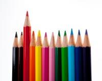 Mehrfarbenbleistifte Stockfotografie