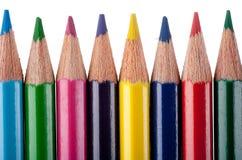 Mehrfarbenbleistifte Stockfotos