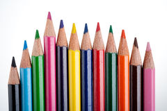Mehrfarbenbleistifte Lizenzfreie Stockbilder